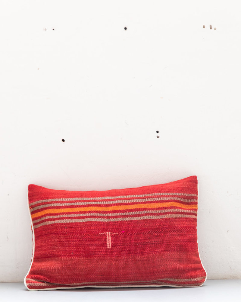 Authentic striped Berber pillow from Morocco XL 479
