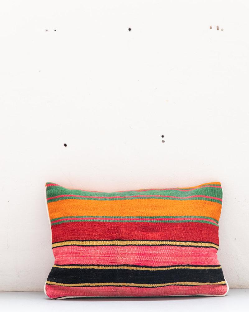 Authentiek gestreept Berber kussen uit Marokko XL 478