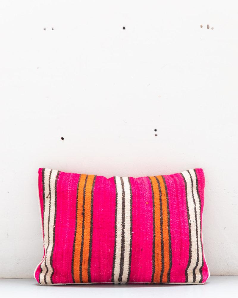Authentiek gestreept Berber kussen uit Marokko XL 468