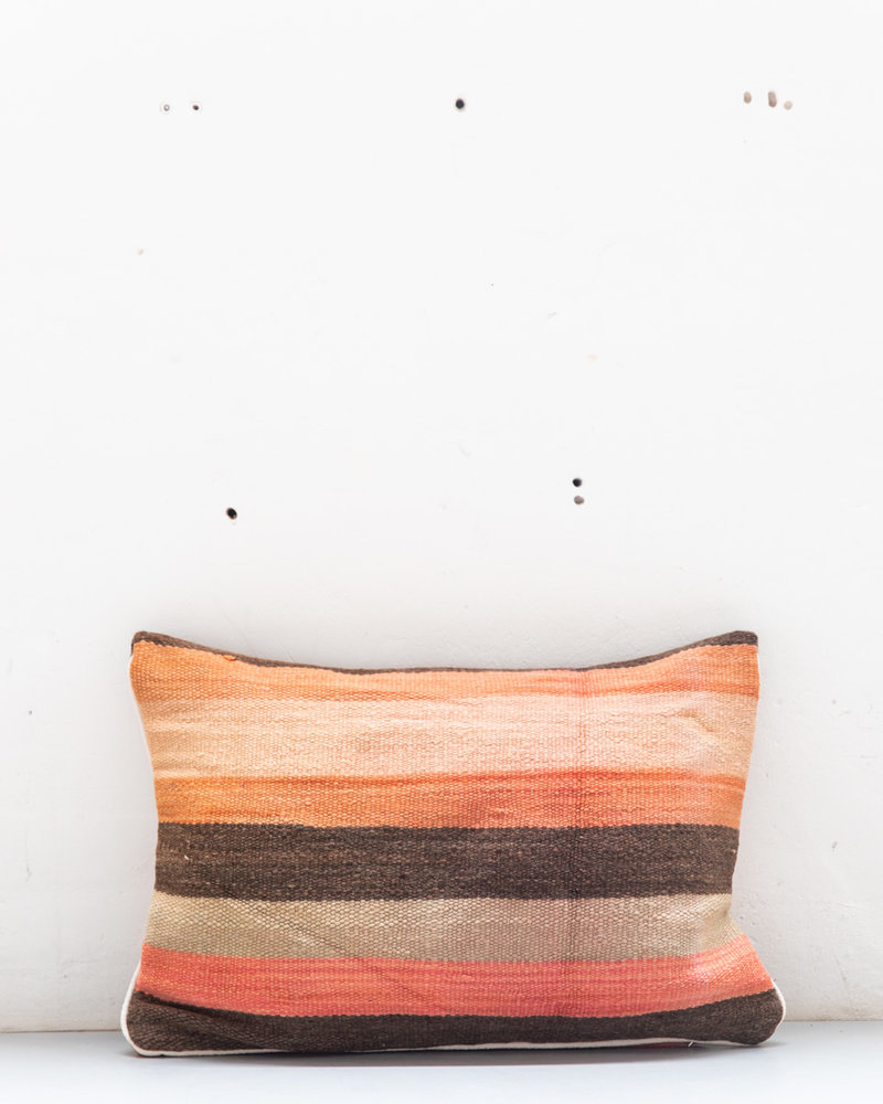 Authentic striped Berber pillow from Morocco XL 466