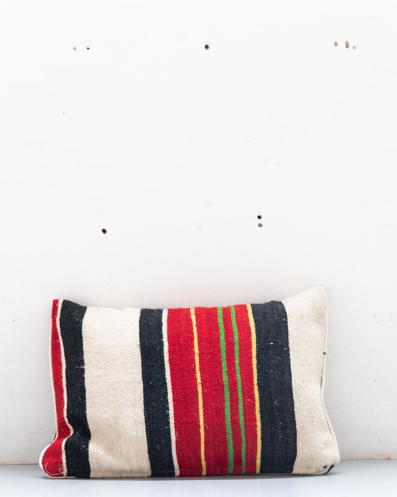 Authentic striped Berber pillow from Morocco XL 461