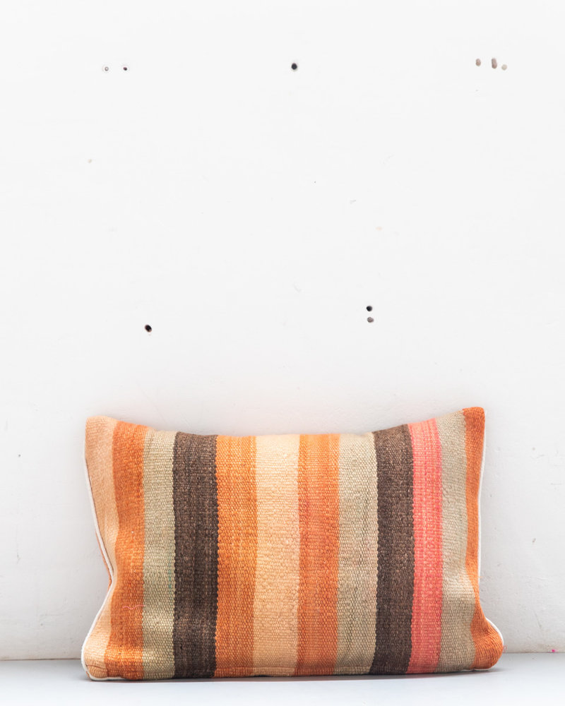 Authentic striped Berber pillow from Morocco XL 458