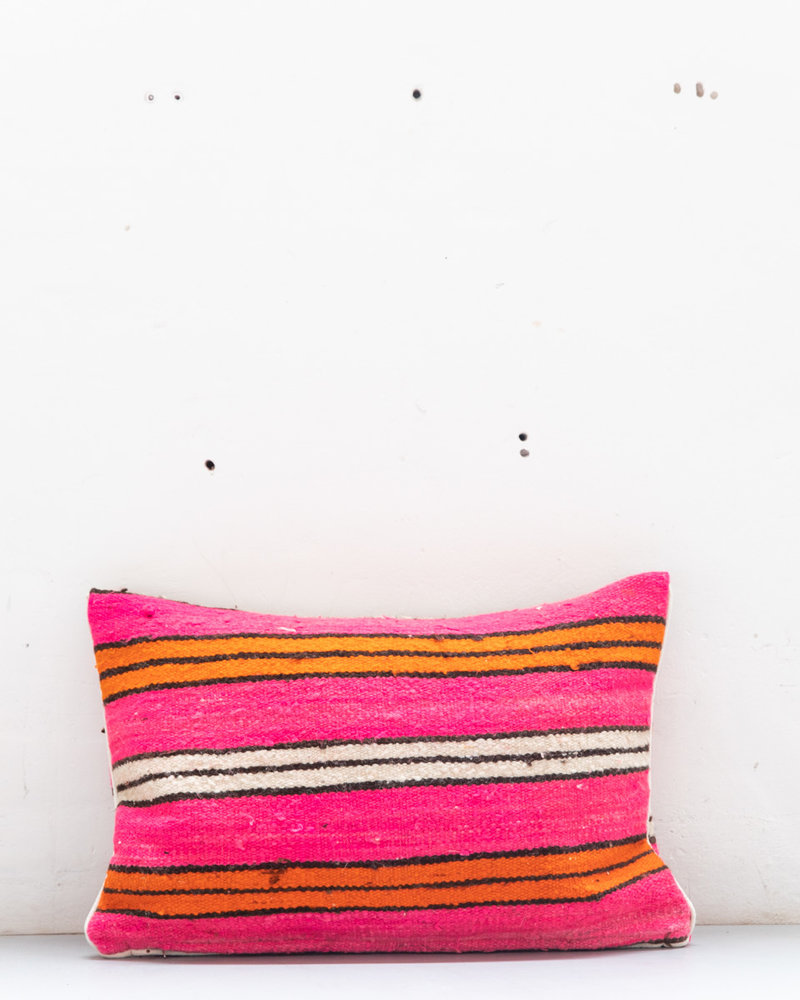 Authentic striped Berber pillow from Morocco XL 450