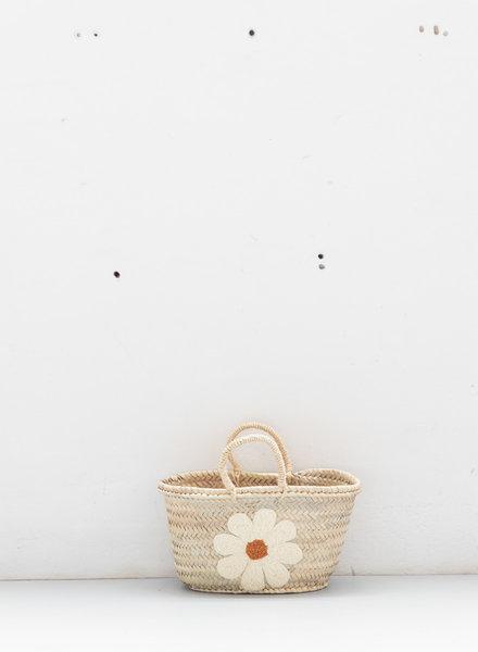 The Souks x Dappermaentje - Handwoven straw basket daisy