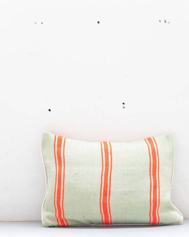 Authentic striped Berber pillow from Morocco 446