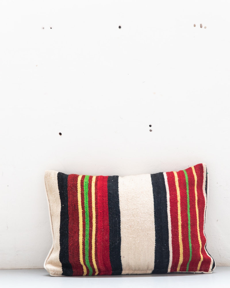 Authentic striped Berber pillow from Morocco  443