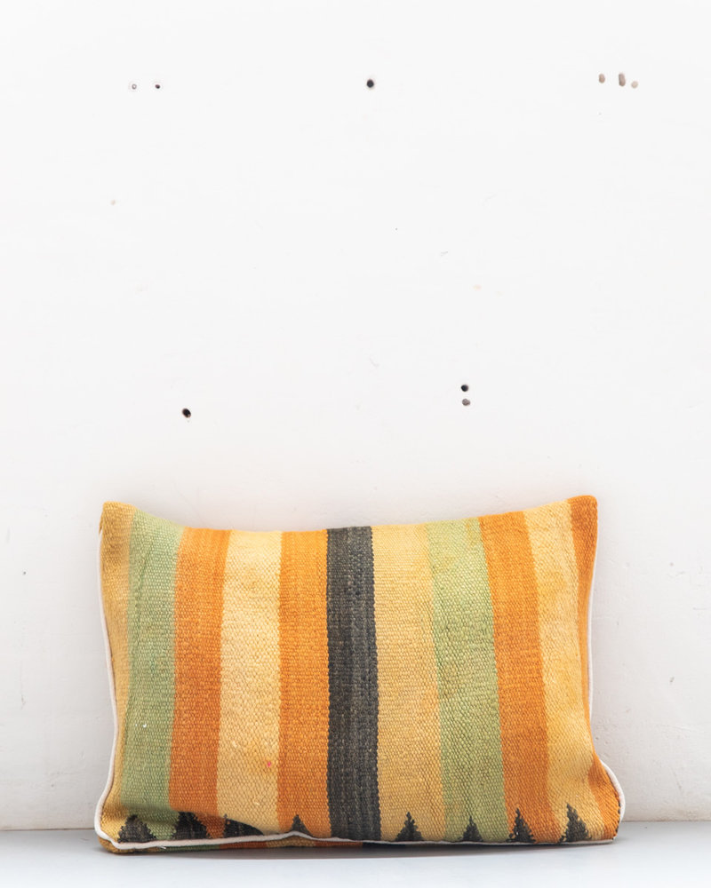 Authentic striped Berber pillow from Morocco 442
