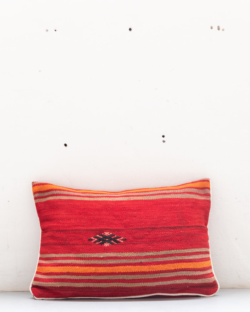 Authentic striped Berber pillow from Morocco 435