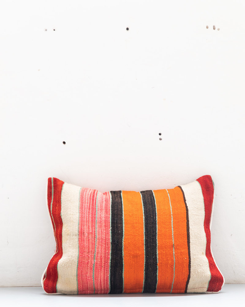 Authentic striped Berber pillow from Morocco 429