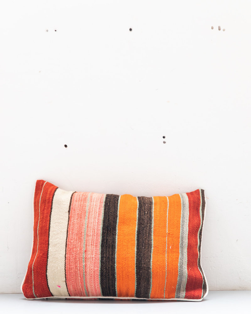Authentic striped Berber pillow from Morocco 426