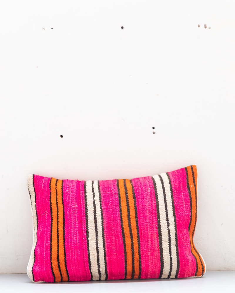 Authentic striped Berber pillow from Morocco 425