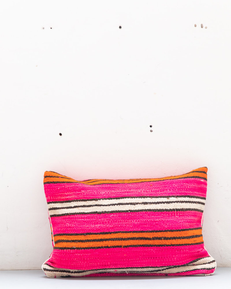 Authentic striped Berber pillow from Morocco 424