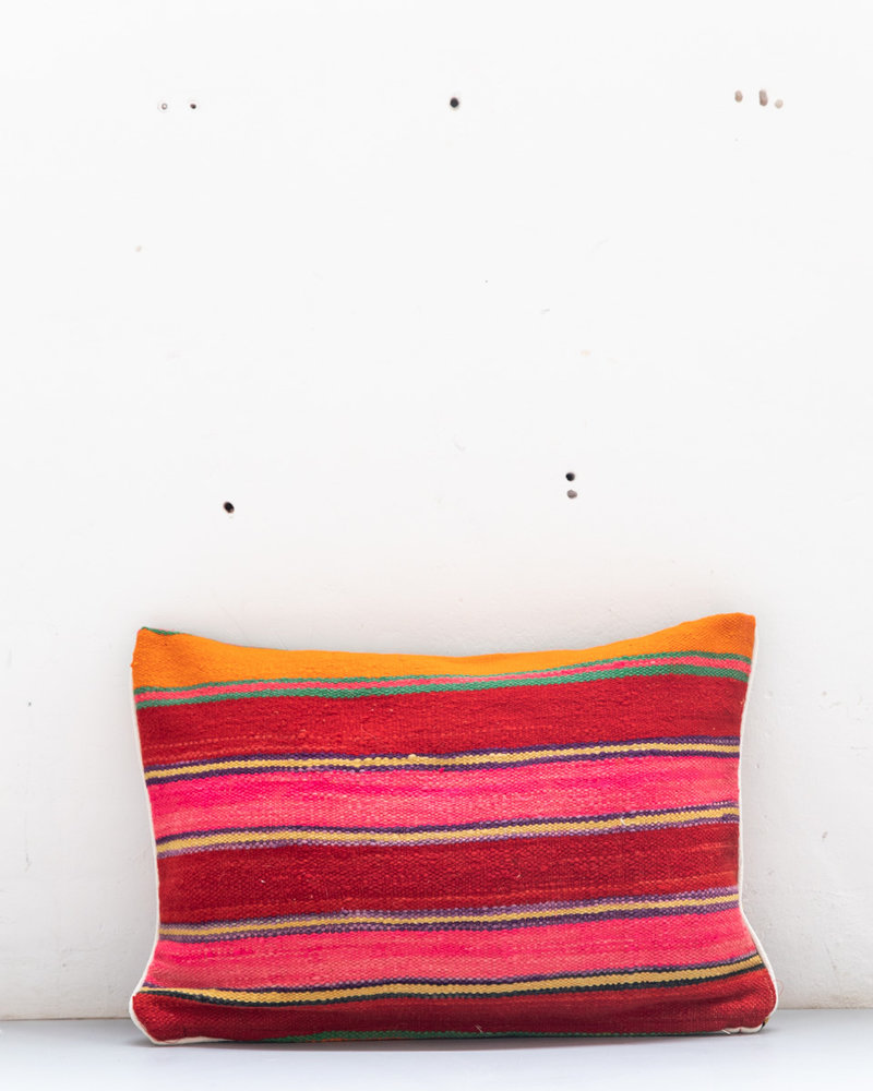 Authentic striped Berber pillow from Morocco 422