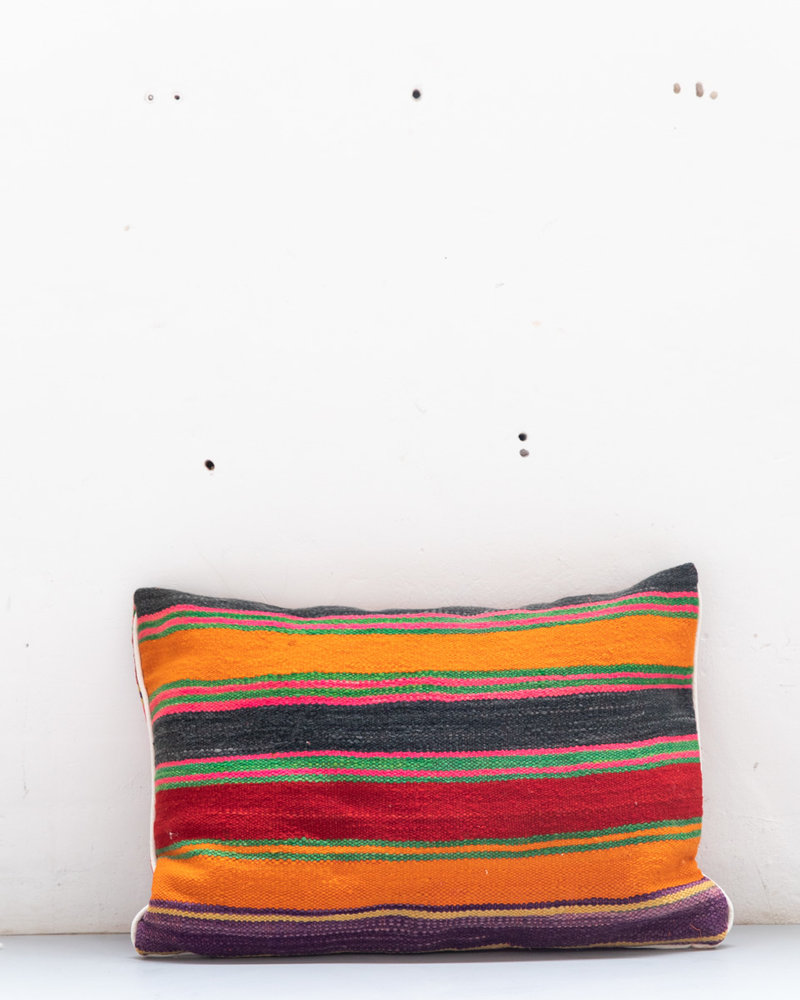 Authentic striped Berber pillow from Morocco 421