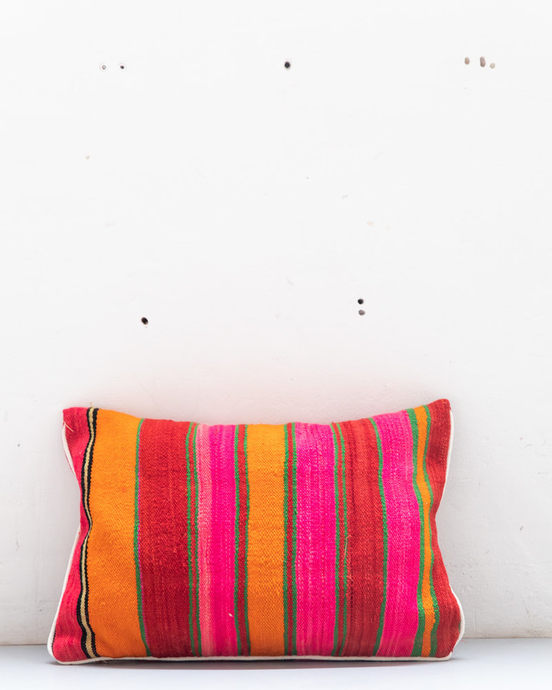 Authentic striped Berber pillow from Morocco 420