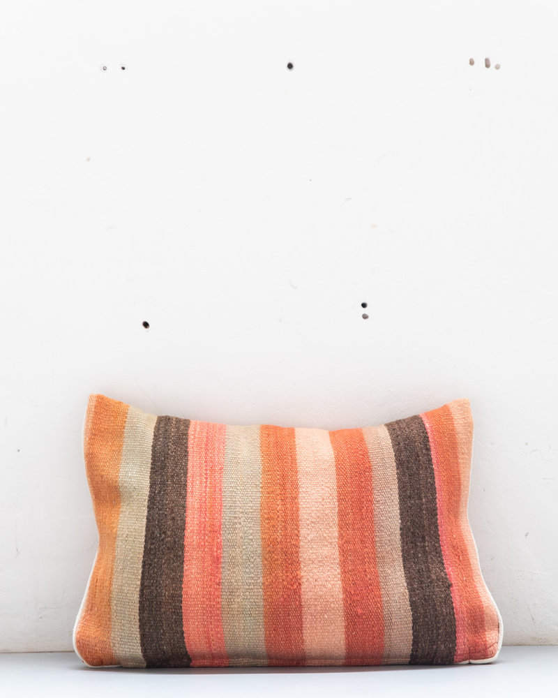 Authentic striped Berber pillow from Morocco 418