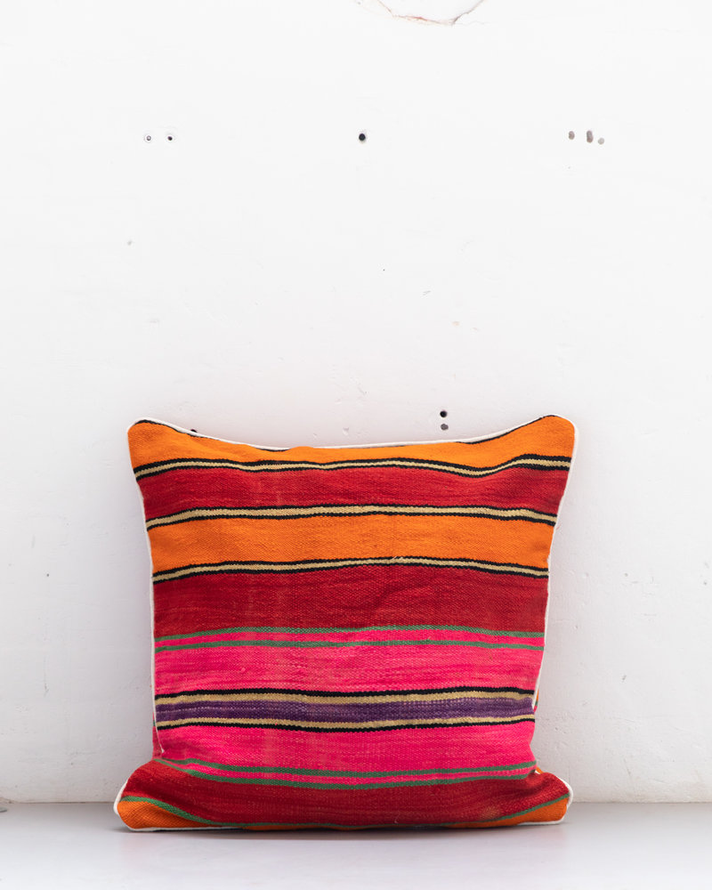Authentic striped Berber pillow from Morocco XXL 530