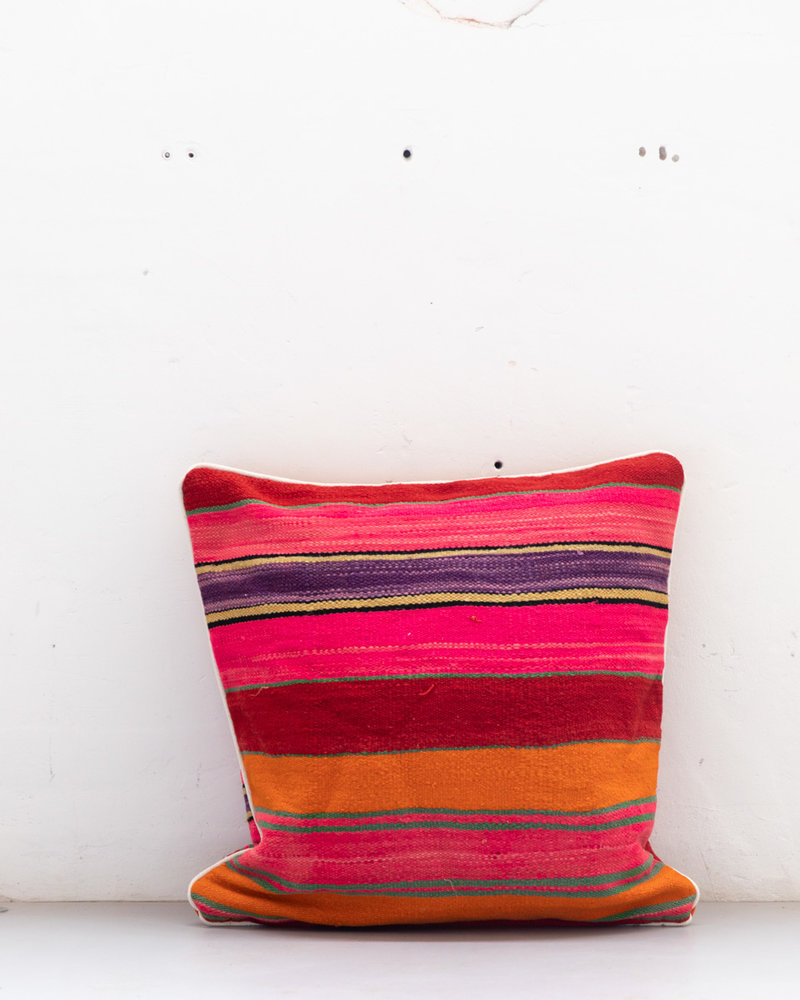Authentic striped Berber pillow from Morocco XXL 525