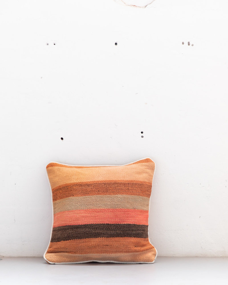 Authentic striped Berber pillow from Morocco 523