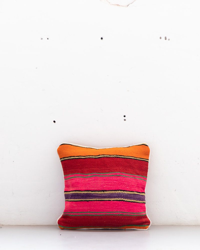 Authentic striped Berber pillow from Morocco 520
