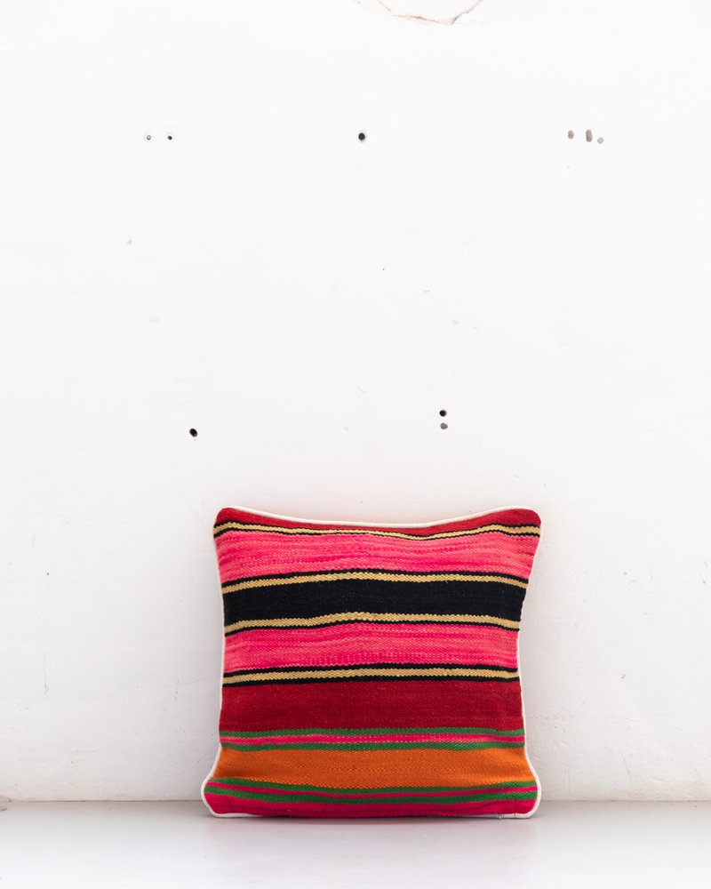 Authentic striped Berber pillow from Morocco 517