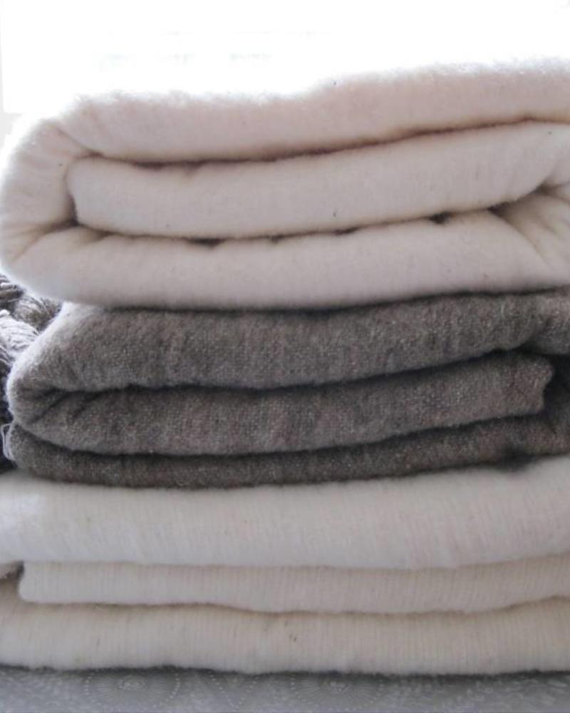 PRE ORDER Handwoven Berber pompom blanket M