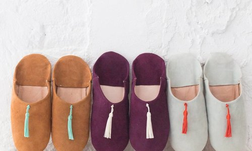 raffia shoes from Morocco