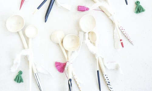 wooden hand painted spoons