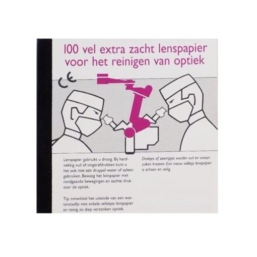 Lens cleaning paper 100 sheets