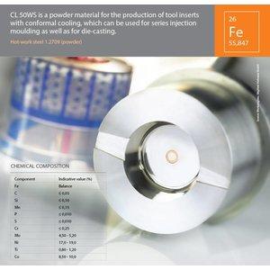 Concept Laser Hard tool steel 1.2709 CL50WS 1Kilogram