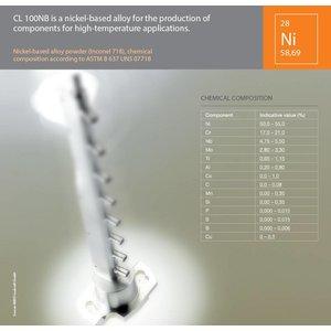 Nikkel legering Inconel 718 CL100NB 1Kilogram