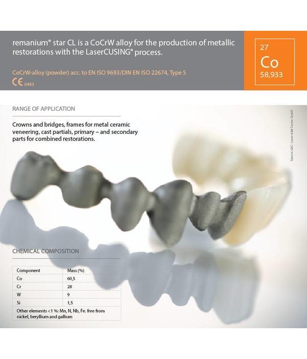CobaltChrome Remanium® starCL 1Kilogram