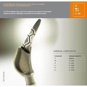Titanium legering CL42Ti 1Kilogram