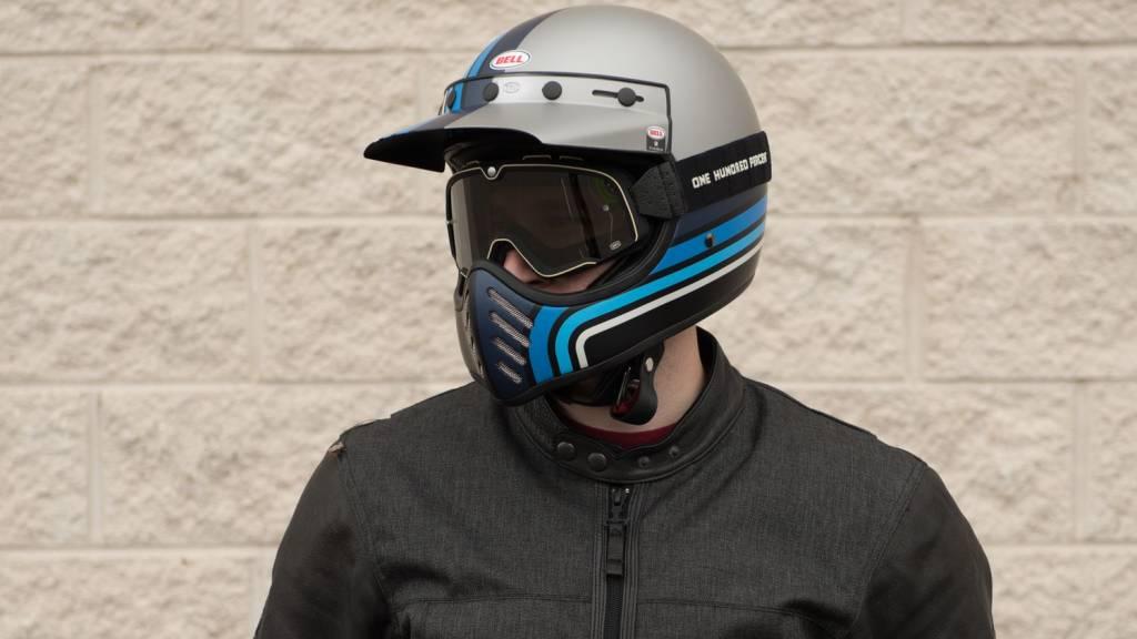Bell Moto 3 Stripes Black/Blue