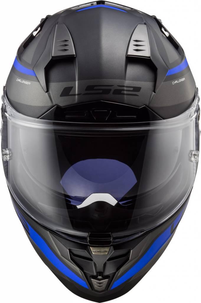 LS2 FF327 Challenger Fusion Matt Titanium - Blue