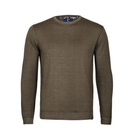 Brown merino pullover.