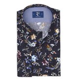 R2 Black shirt with all over colourful flower print.