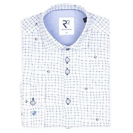 Kids white football print cotton shirt.