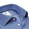 Strijkvrij Pied de poule blauw katoenen overhemd.