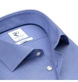 Blauw strijkvrij hemd fijne pied de poule.