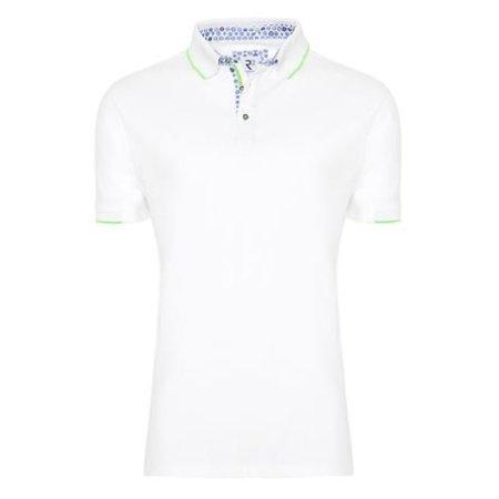 White cotton polo shirt.