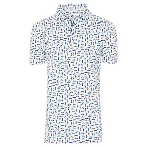 Witte autoprint polo.