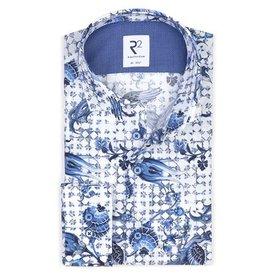 White Dutch print cotton shirt SL7.