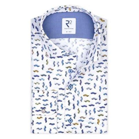 White car print cotton shirt.