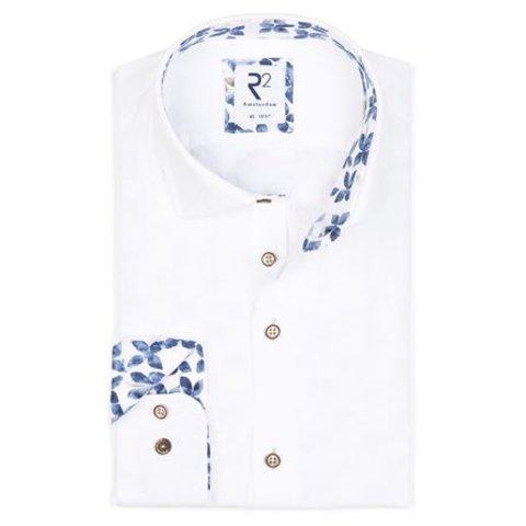 White plain linen shirt.
