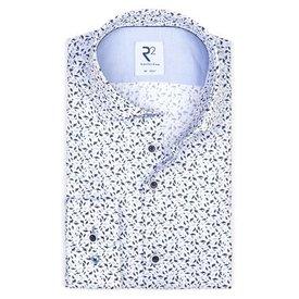 Wit grafische print katoenen overhemd ML7.