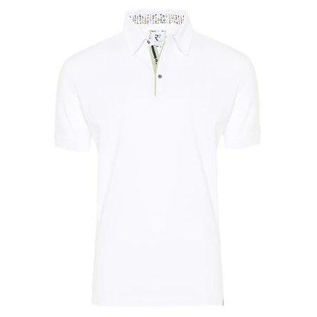 White plain cotton polo.