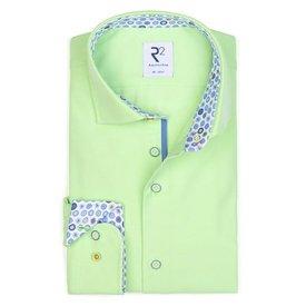 Neon groen effen katoenen overhemd.
