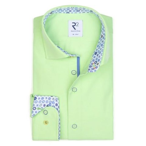 Neon groen  katoenen overhemd.