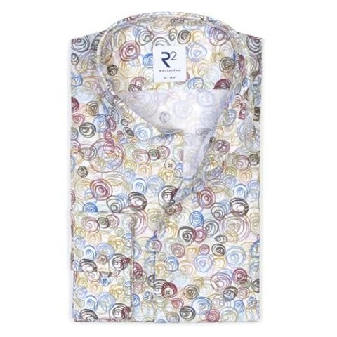 Cotton shirt with multicoloured graphic print.